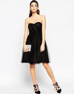 Сетчатое платье бандо ASOS NIGHT - Черный