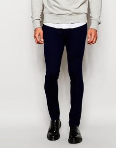 ASOS Super Skinny Trousers In Jersey - Темно-синий