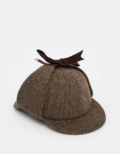 ASOS Deer Hunter Hat In Harris Tweed - Хаки