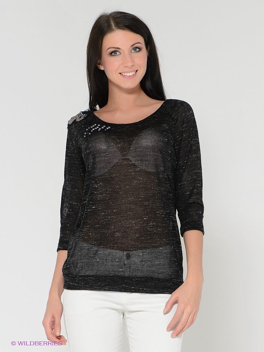 приталенный свитер спицами