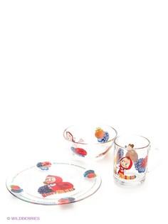 Детская посуда Маша и медведь