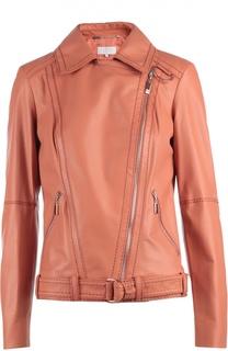 Куртка кожаная с поясом Escada Sport