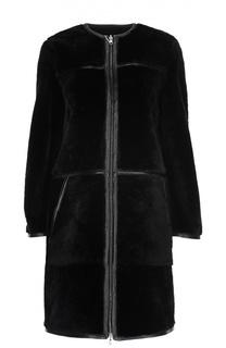 Пальто кожаное HUGO BOSS Black Label