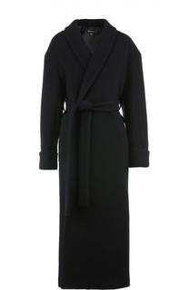 Пальто с поясом DKNY