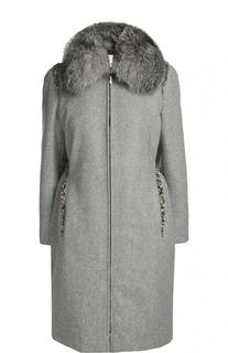 Пальто с воротником Moncler