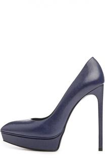 Синие Туфли Saint Laurent