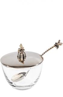 Тарелка для мёда с ложкой и крышкой Tsar