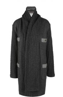 Пальто с шарфом Weill