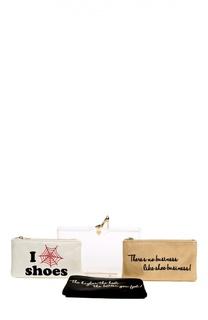 Клатч с набором косметичек Charlotte Olympia