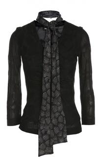 Блуза джерси с шарфом Just Cavalli