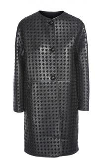 Пальто кожаное Armani Collezioni