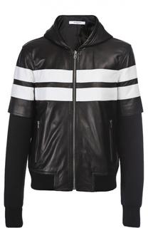 Куртка-бомбер кожаная Givenchy