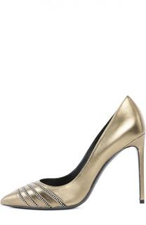 Золотистые Туфли Saint Laurent