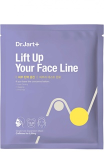 Маска с кофеином для интенсивного лифтинга Dermask Lift Up Your Face Line Dr.Jart+