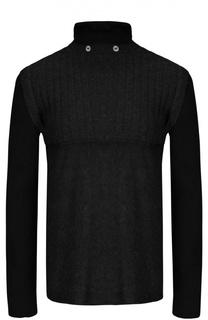 Пуловер вязаный с воротником Manostorti