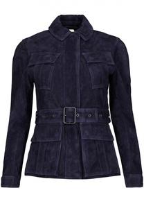 Куртка замшевая с поясом Burberry Brit
