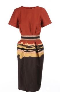 Платье с поясом Bottega Veneta