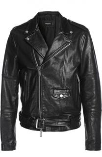 Куртка кожаная с ремнем Dsquared2