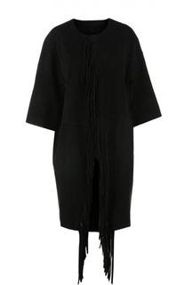 Пальто замшевое Yves Salomon