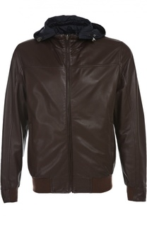 Куртка кожаная с капюшоном Mabrun