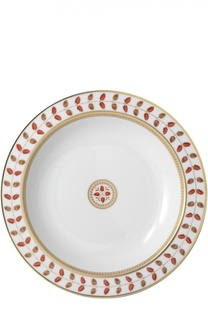 Блюдо круглое глубокое Constance Rouge Bernardaud
