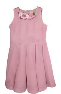 Платье с брошью Monnalisa