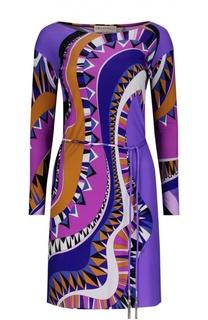 Платье джерси с поясом Emilio Pucci