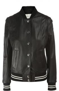 Куртка кожаная Pierre Balmain
