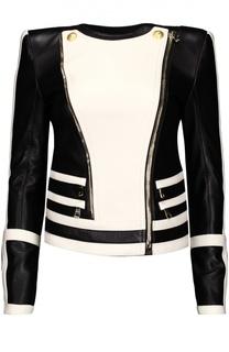 Куртка кожаная Balmain