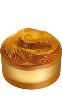 "Шкатулка Snake ""Amber"" Lalique"
