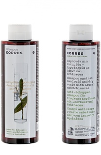 Шампунь от перхоти и сухой кожи головы Korres Shampoo against dandruff and dry scalp Laurel and Echinacea Korres