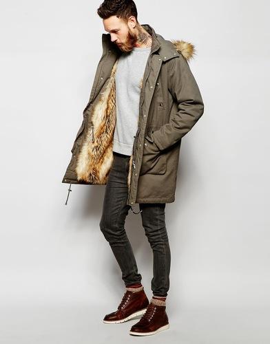 Парка мужская зимняя с натуральным мехом купить