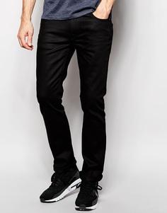 Узкие джинсы из органического хлопка Nudie Jeans Finn - Черный