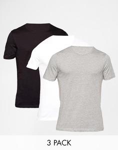 3 классические футболки с круглым вырезом Hugo Boss - Мульти