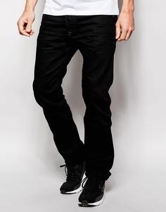 Узкие черные джинсы Diesel Darron 8QU - Черный