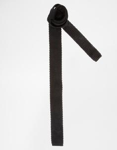 Вязаный галстук ASOS - Черный