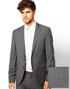 Приталенный пиджак в мелкую клетку Esprit - Серый