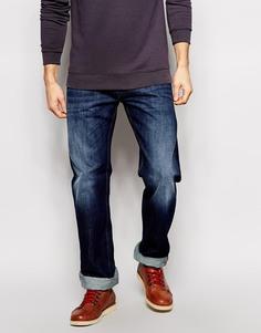 Прямые умеренно выбеленные джинсы Diesel Larkee 823G - Синий