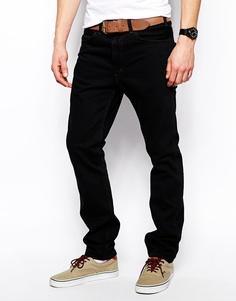 Черные крашеные джинсы с оранжевым ярлыком Levi's Vintage Clothing Jeans 1960 606 - Черный крашеный деним