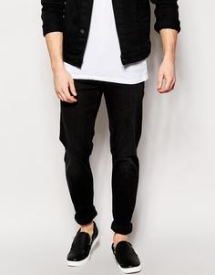 Черные джинсы скинни Weekday Friday - Угольный черный