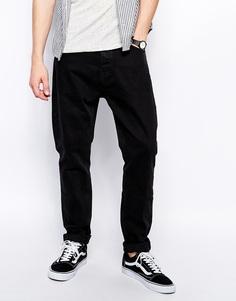 Прямые джинсы идеально черного оттенка Weekday Monday - Perfect black
