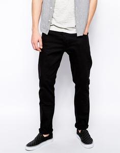 Черные джинсы слим Weekday - Черный