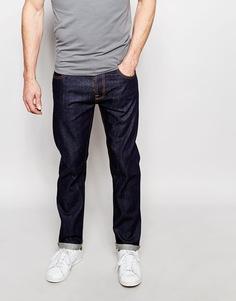 Однотонные прямые джинсы из сухой ткани Nudie Jeans Steady Eddie - Tonal dry
