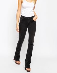 Черные расклешенные джинсы в стиле вестерн ASOS Baby Kick - Черный в стиле вестерн