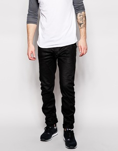 Черные джинсы слим G-Star Arc Zip 3D - Выбеленный посередине