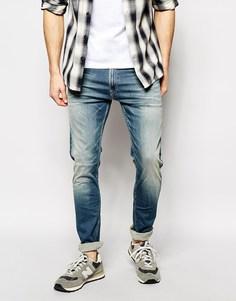 Сверхэластичные джинсы скинни Replay Hyperflex Jondrill - Умеренный выбеленный