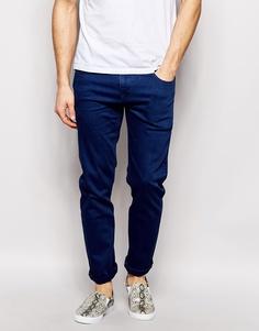 Синие эластичные джинсы слим ASOS - Синий