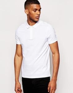 Трикотажная футболка-поло ASOS - Белый