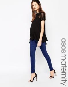 Синие джеггинсы для беременных ASOS Maternity ''Sculpt Me'' Premium - Синий