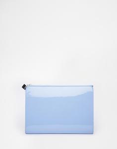 Клатч с застежкой на молнию ASOS - Синий
